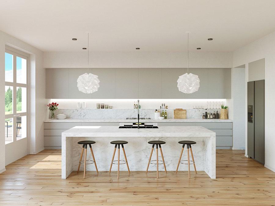 Modello di cucina con isola n.11