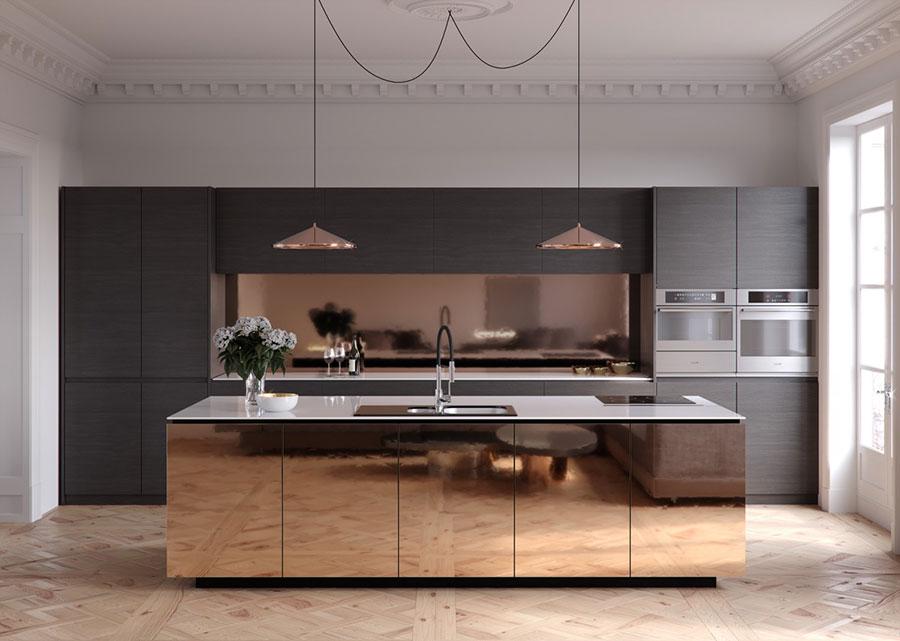 Modello di cucina con isola n.13