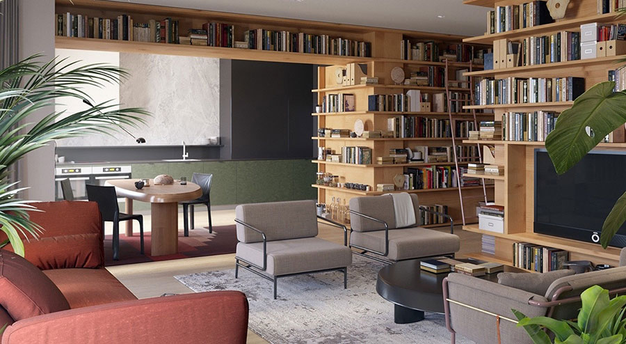Idee per libreria moderna divisoria n.04