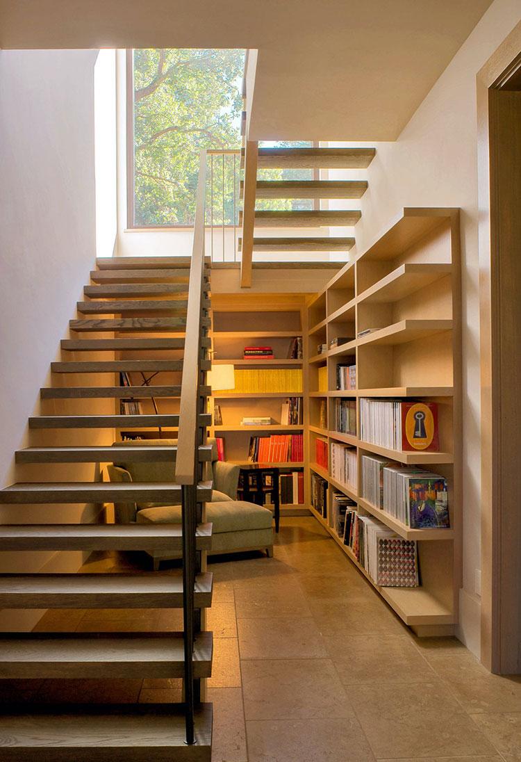 Idee per libreria moderna su scala n.03