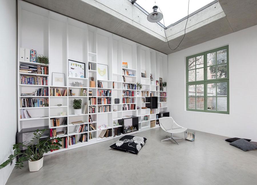 Idee per libreria moderna a tutta altezza n.06