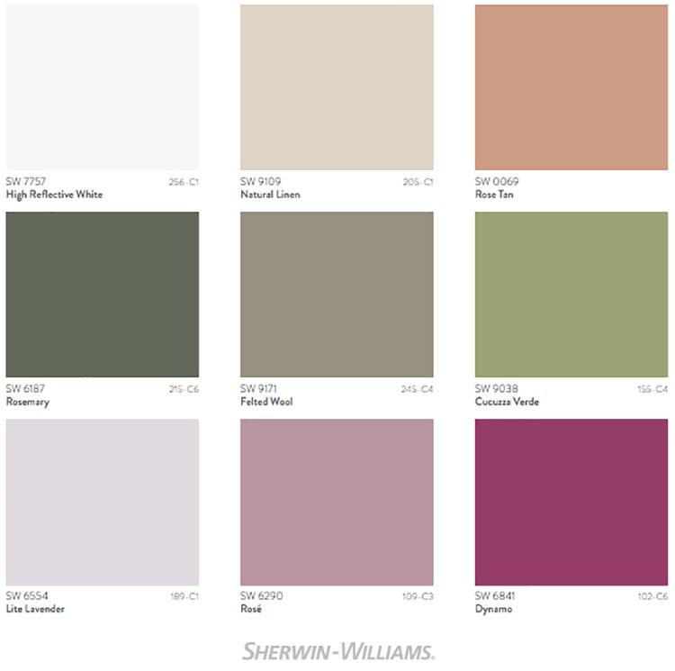 Colori di tendenza 2022 palette Dreamland n.02