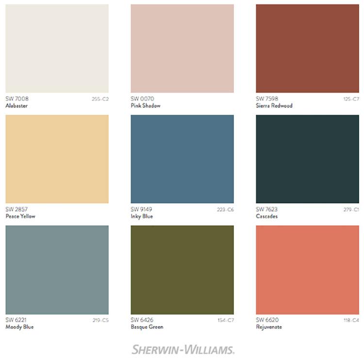 Colori di tendenza 2022 palette Ephemera n.02