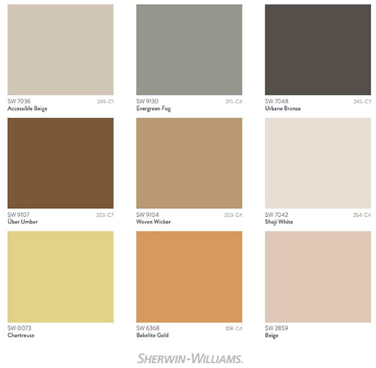 Colori di tendenza 2022 palette Method n.02