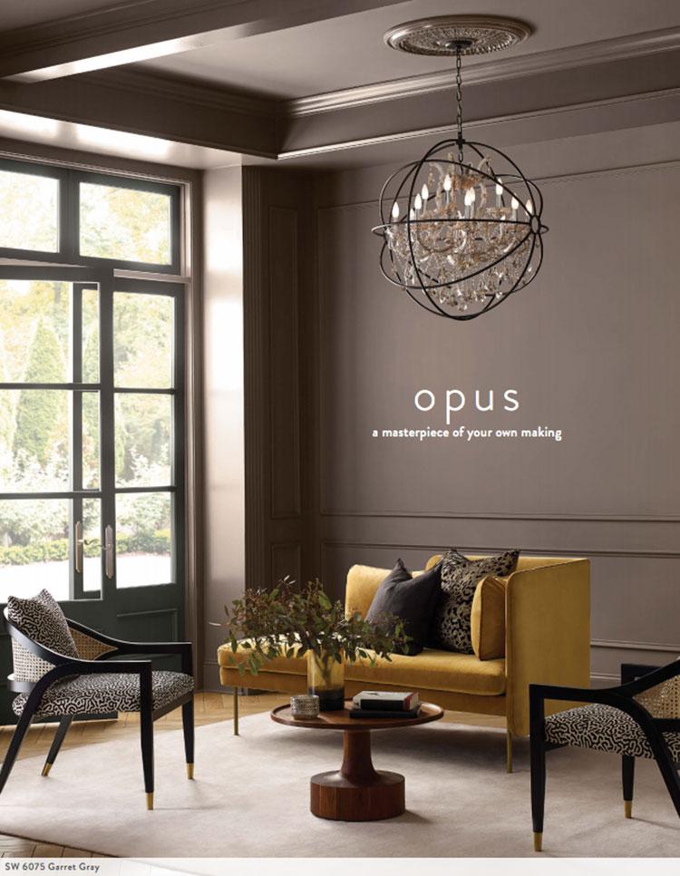 Colori di tendenza 2022 palette Opus n.01