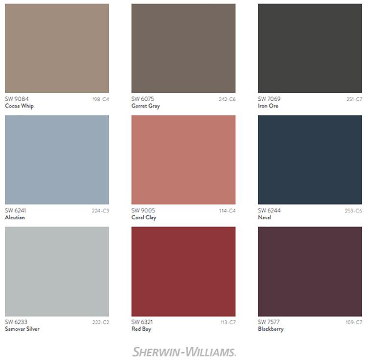 Colori di tendenza 2022 palette Opus n.02