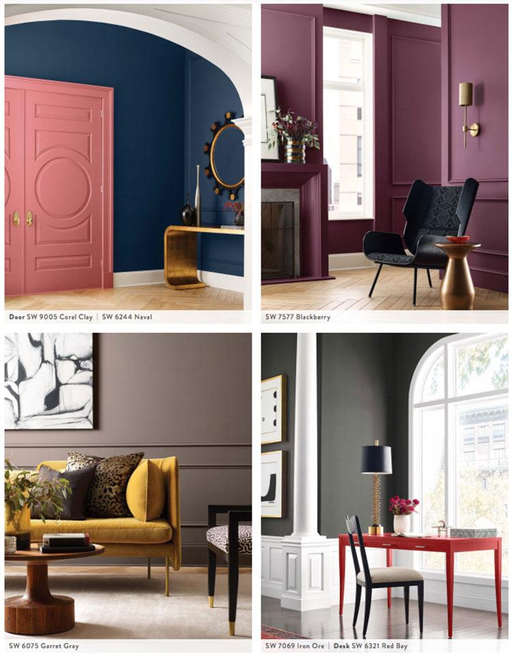 Colori di tendenza 2022 palette Opus n.03