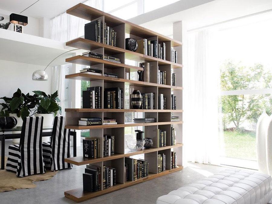 Libreria bifacciale per ingresso n.05