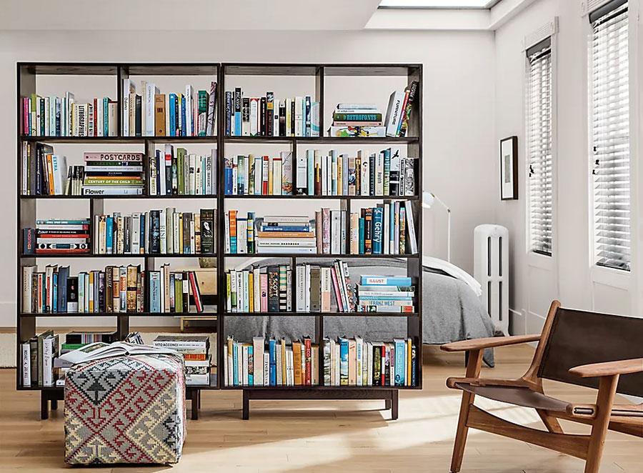 Libreria bifacciale per monolocale n.02