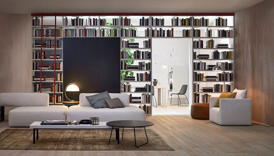 Libreria bifacciale con porta n.01