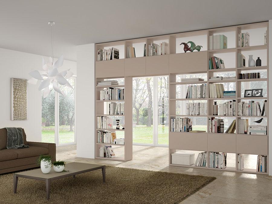 Libreria bifacciale con porta n.02