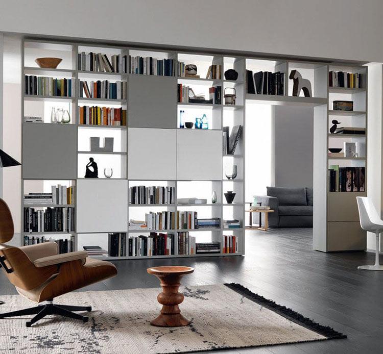 Libreria bifacciale con porta n.03