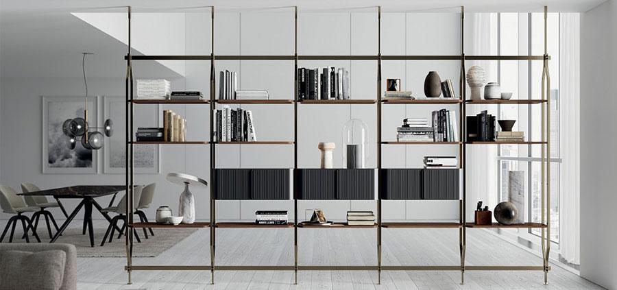 Libreria bifacciale a soffitto n.02