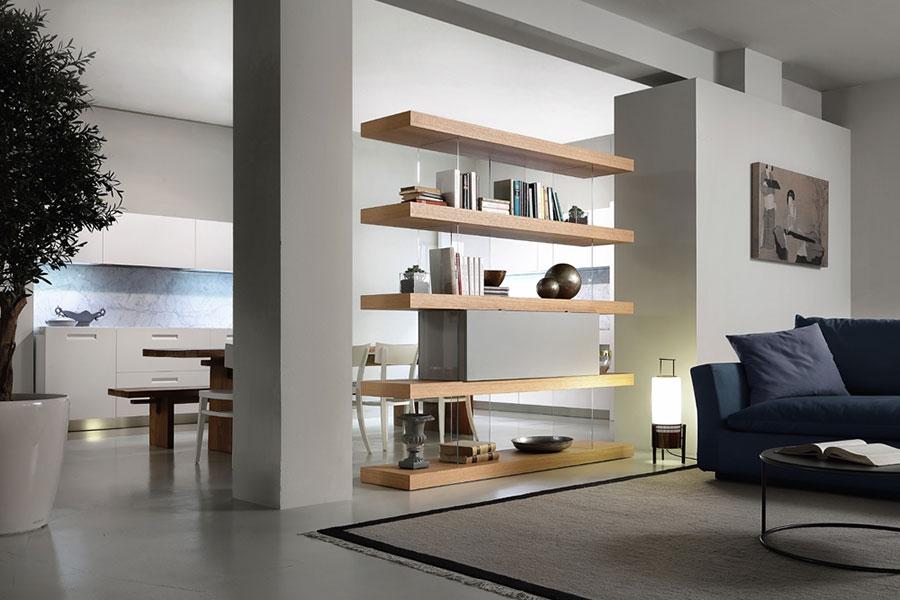 Libreria bifacciale tra cucina e living n.02