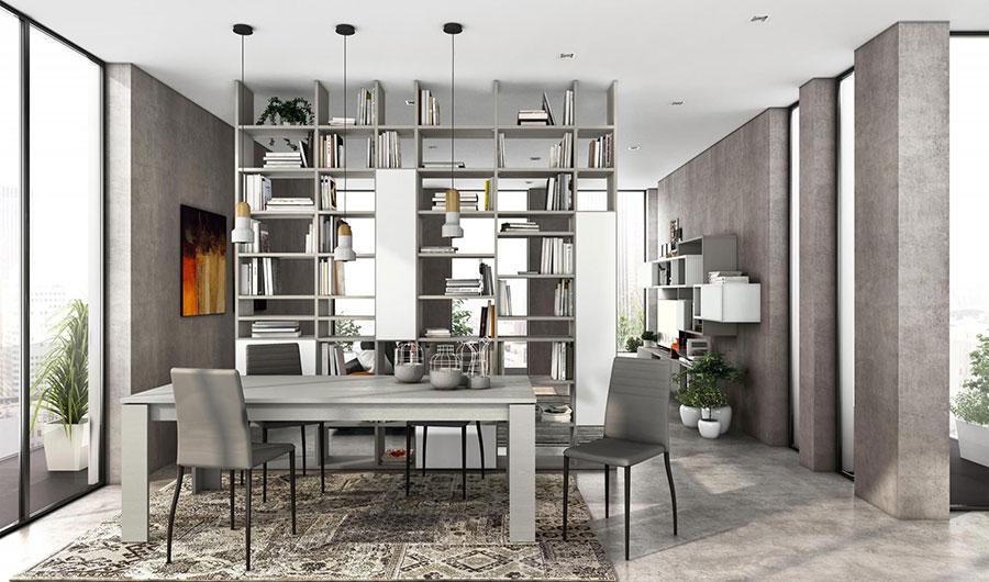 Libreria bifacciale tra cucina e living n.03