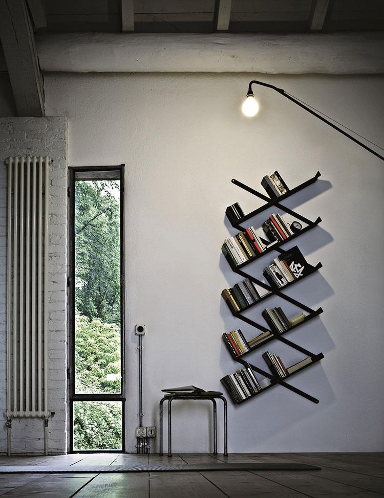 Modello di libreria sospesa di design n.04