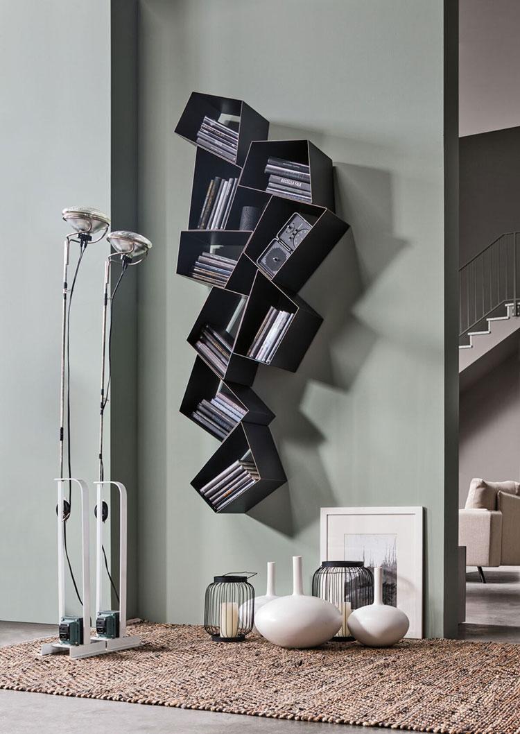Modello di libreria a parete sospesa n.06