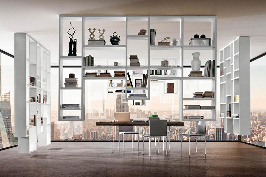 Modello di libreria sospesa a soffitto n.01