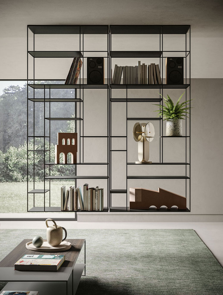 Modello di libreria sospesa a soffitto n.05