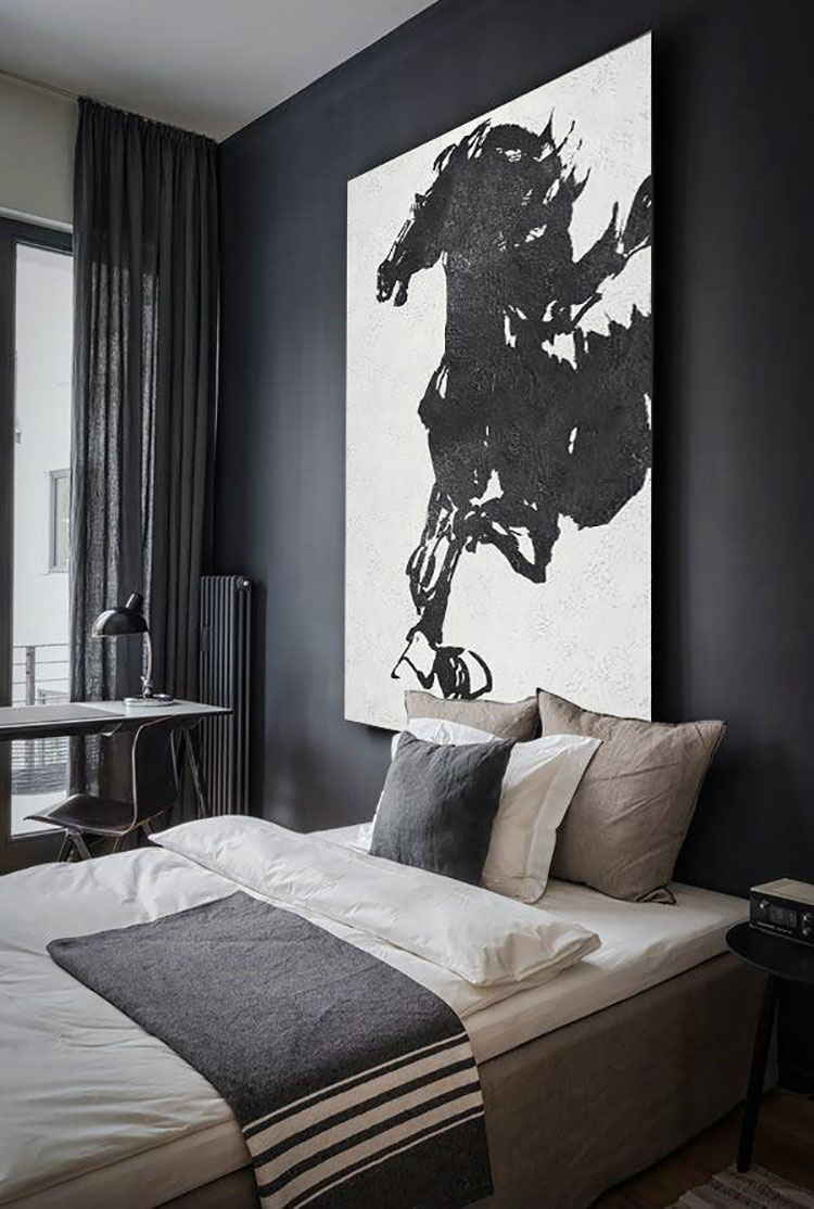 Dove collocare un quadro di grandi dimensioni in una camera da letto n.02