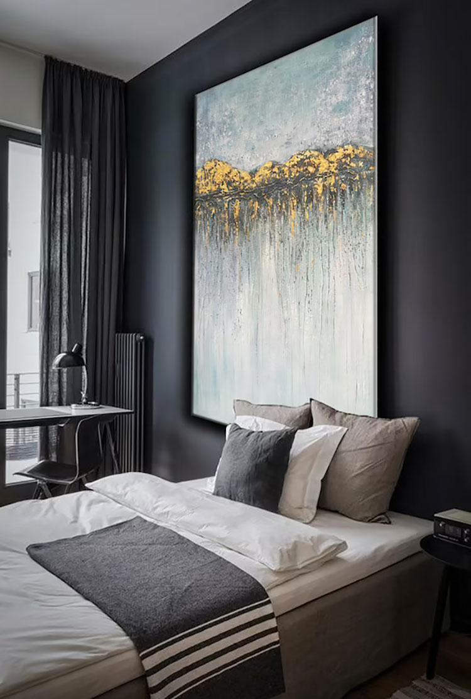 Dove collocare un quadro di grandi dimensioni in una camera da letto n.03