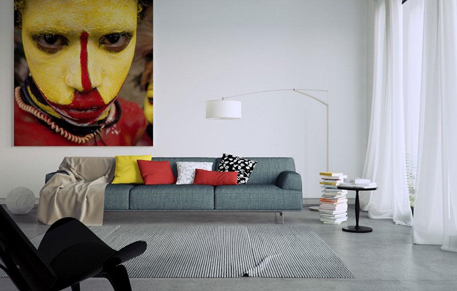 Dove collocare un quadro di grandi dimensioni in un living n.01