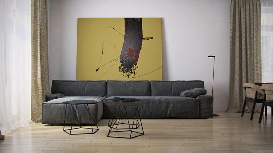 Dove collocare un quadro di grandi dimensioni in un living n.02