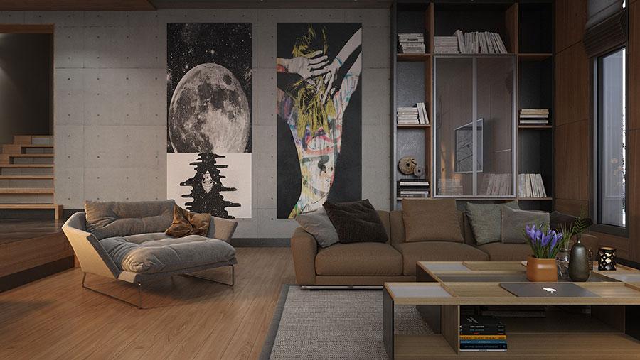 Dove collocare un quadro di grandi dimensioni in un living n.07