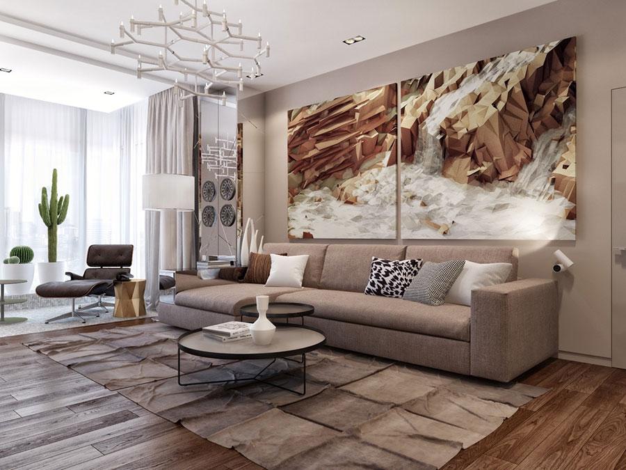 Dove collocare un quadro di grandi dimensioni in un living n.11
