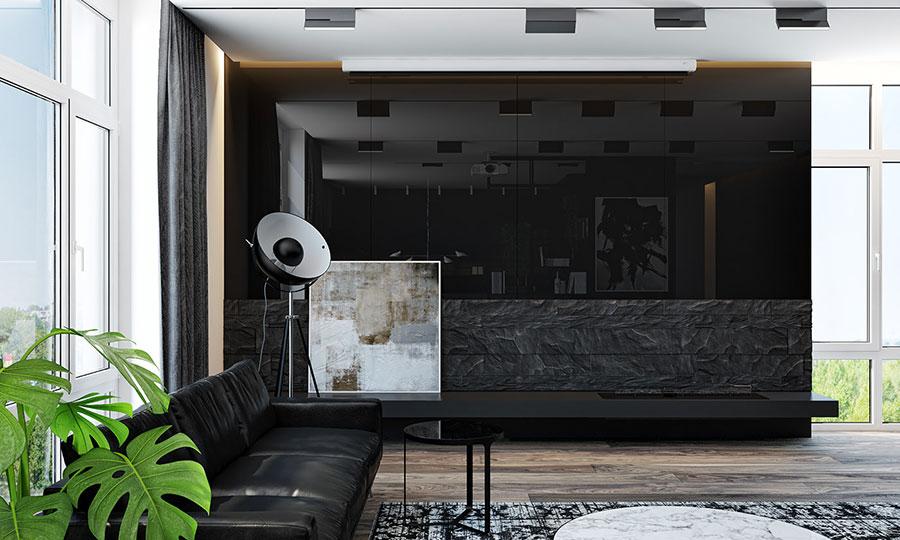 Idee per quadri astratti in un soggiorno classico moderno n.04