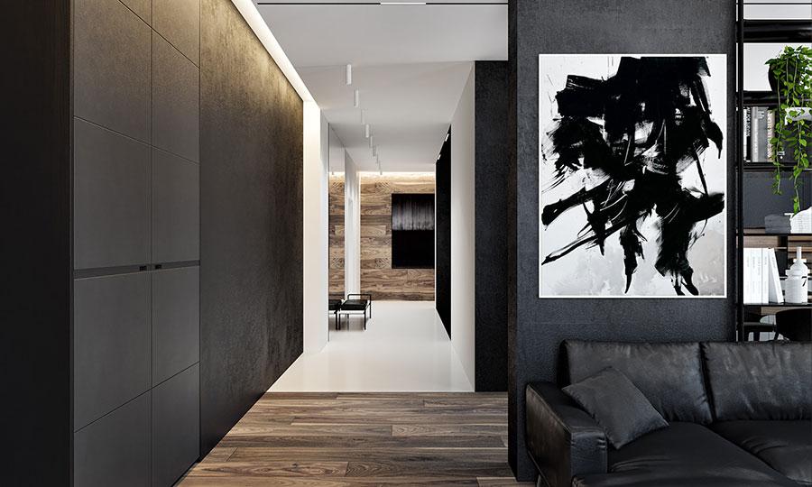 Idee per quadri astratti in un soggiorno classico moderno n.05
