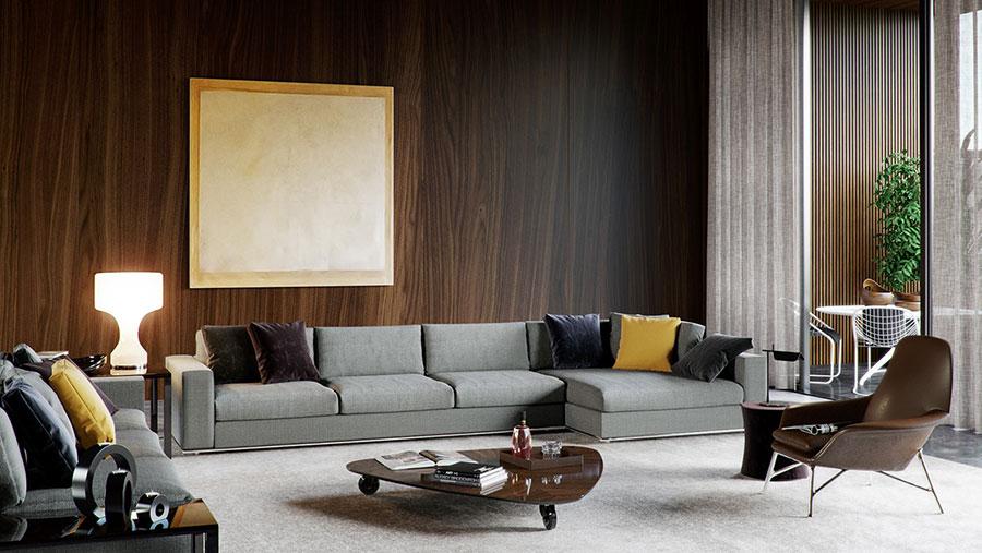 Idee per quadri astratti in un soggiorno classico moderno n.06