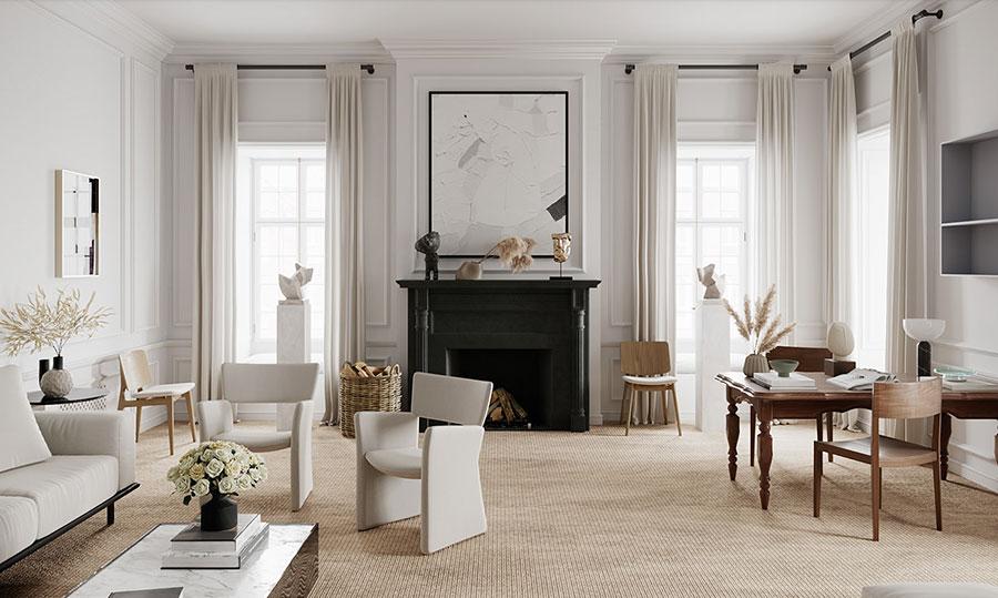 Idee per quadri astratti in un soggiorno classico moderno n.07