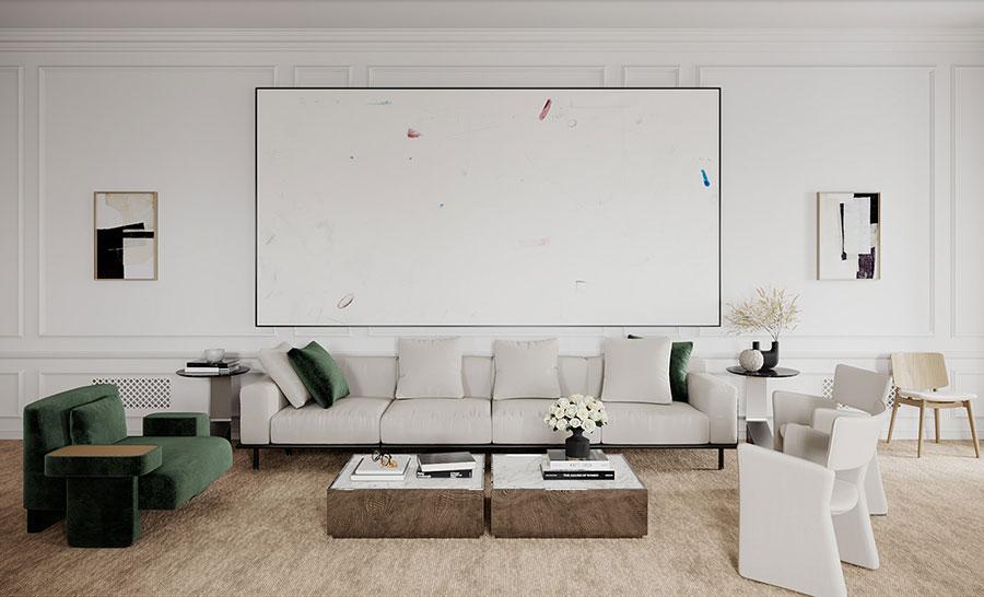 Idee per quadri astratti in un soggiorno classico moderno n.08
