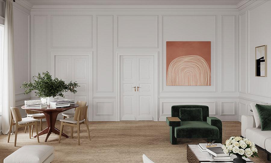 Idee per quadri astratti in un soggiorno classico moderno n.09