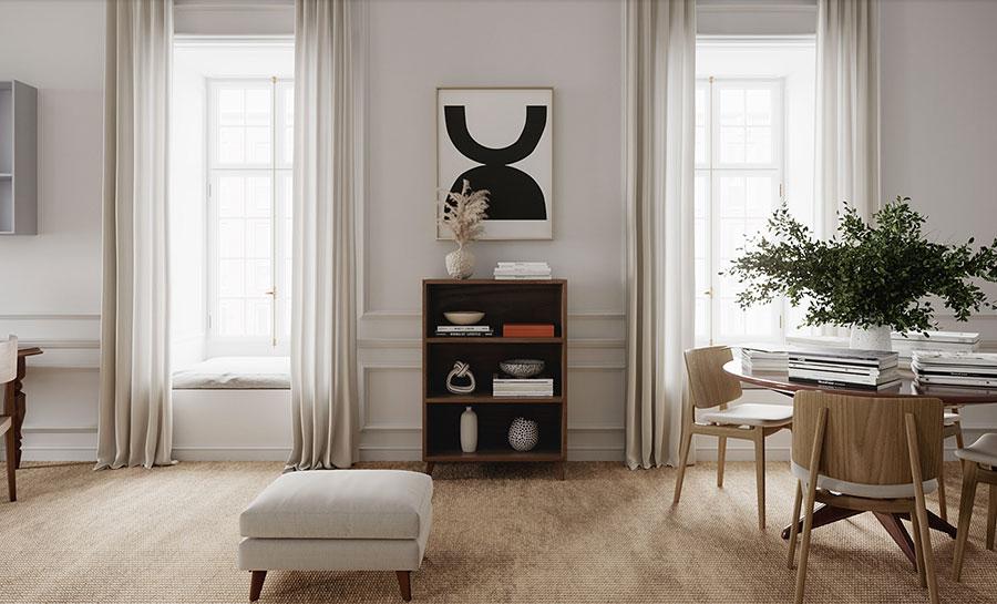 Idee per quadri astratti in un soggiorno classico moderno n.10