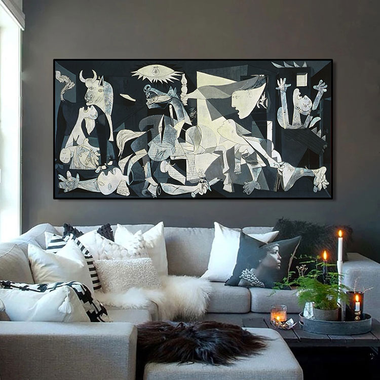 Idee per quadri famosi in un soggiorno classico moderno n.01