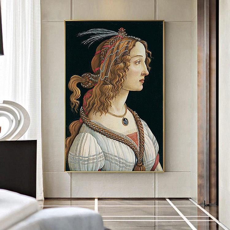 Idee per quadri famosi in un soggiorno classico moderno n.04
