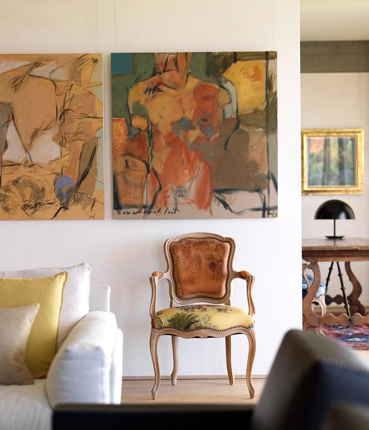 Idee per quadri famosi in un soggiorno classico moderno n.05