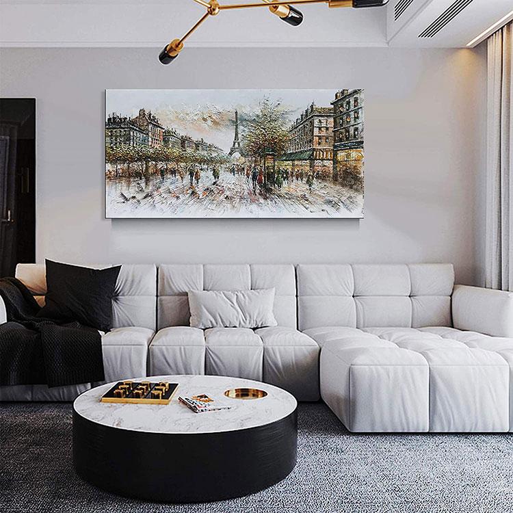 Idee per quadri con paesaggi in un soggiorno classico moderno n.02
