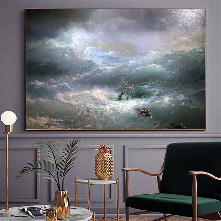 Idee per quadri con paesaggi in un soggiorno classico moderno n.03