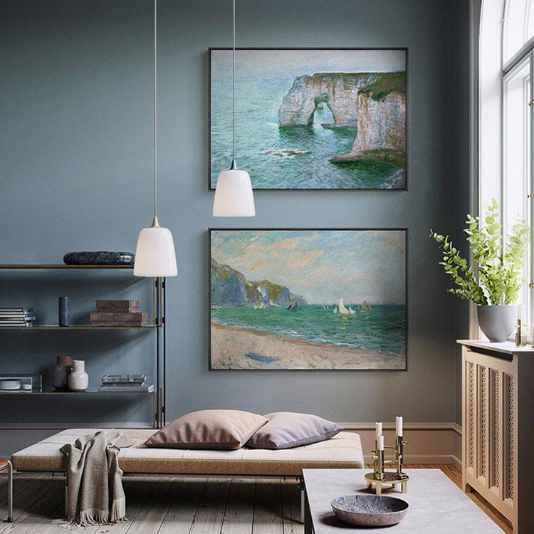 Idee per quadri con paesaggi in un soggiorno classico moderno n.04