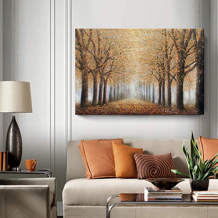 Idee per quadri con paesaggi in un soggiorno classico moderno n.05