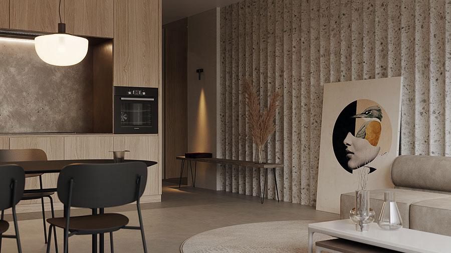 Idee per quadri pop in un soggiorno classico moderno n.02
