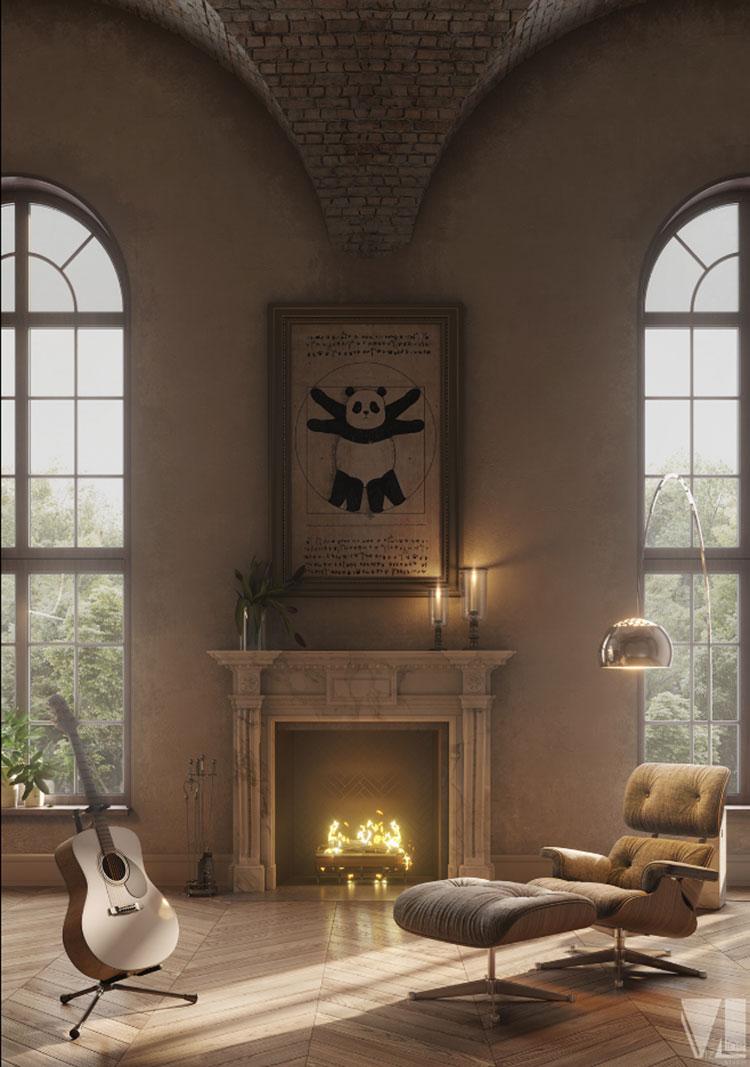 Idee per quadri pop in un soggiorno classico moderno n.03