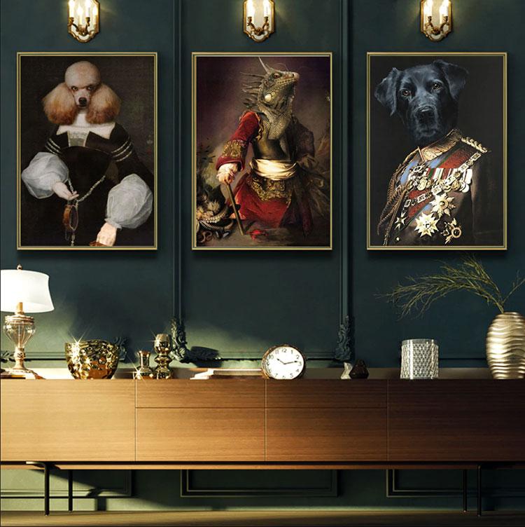 Idee per quadri pop in un soggiorno classico moderno n.04