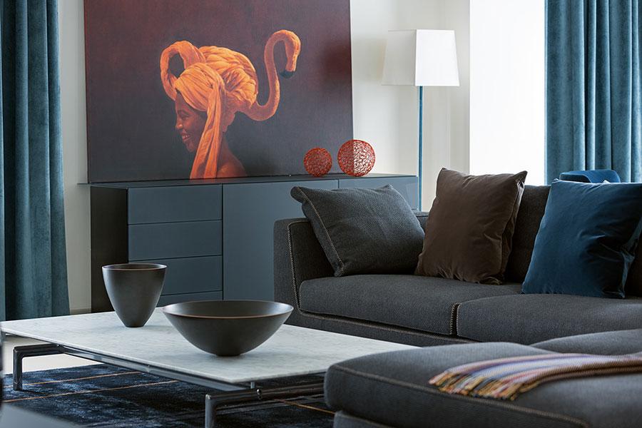 Idee per quadri con ritratti in un soggiorno classico moderno n.02