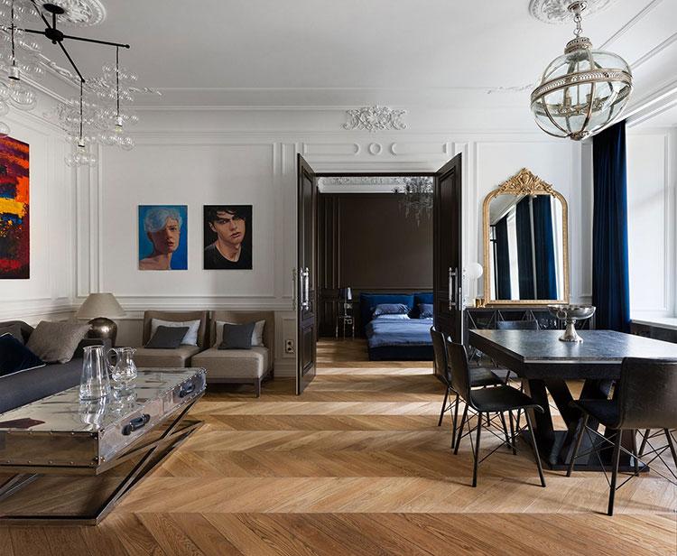 Idee per quadri con ritratti in un soggiorno classico moderno n.03