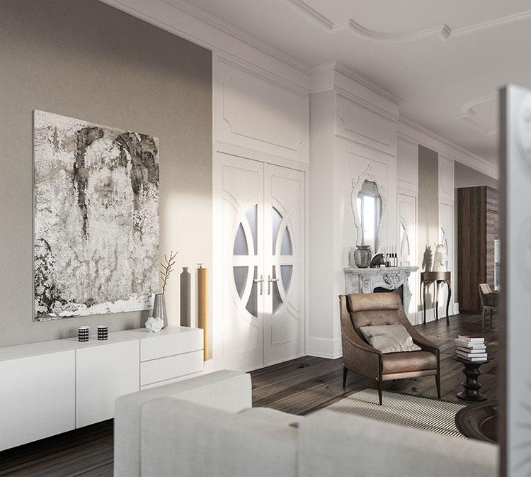 Idee per quadri con ritratti in un soggiorno classico moderno n.04