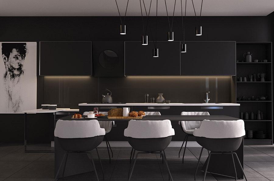 Idee per cucina nera 01